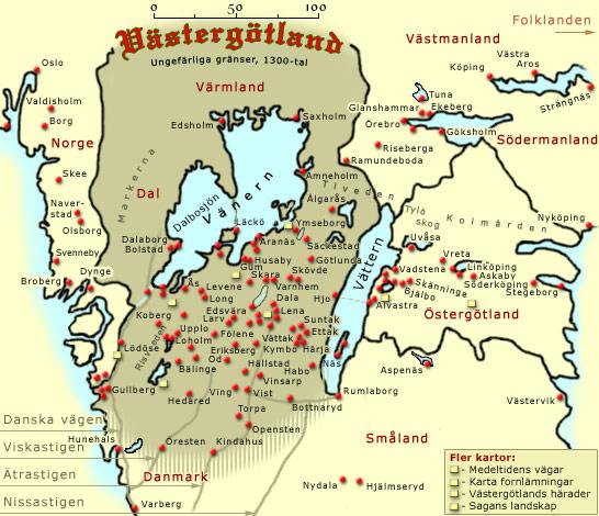 karta vänern vättern